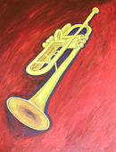trumpet painting
