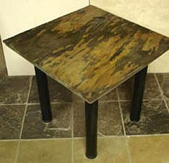 stone decor table