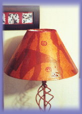 leather-look lampshade